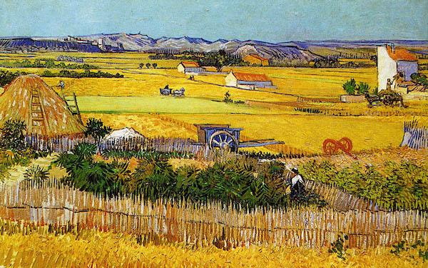 Vincent Van Gogh, La plaine de Crau (1888)