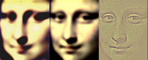 Les différents visages de Mona Lisa vus    par les différents systèmes visules