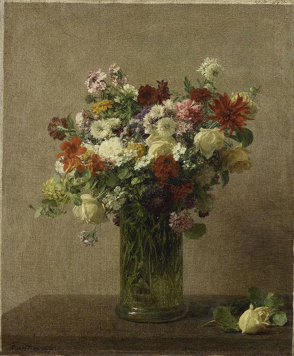 """Henri Fantin-Latour, """"Fleurs de Normandie"""" (1887)"""