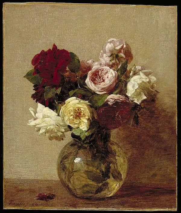 """Henri Fantin-Latour, """"Roses"""" (1884)"""