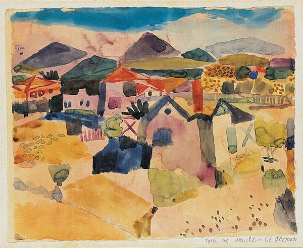 Paul Klee, Vue de Saint Germain (1914)