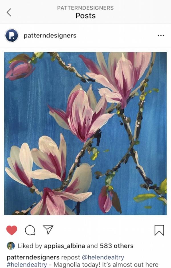 Magnolias d'Helen Dealtry