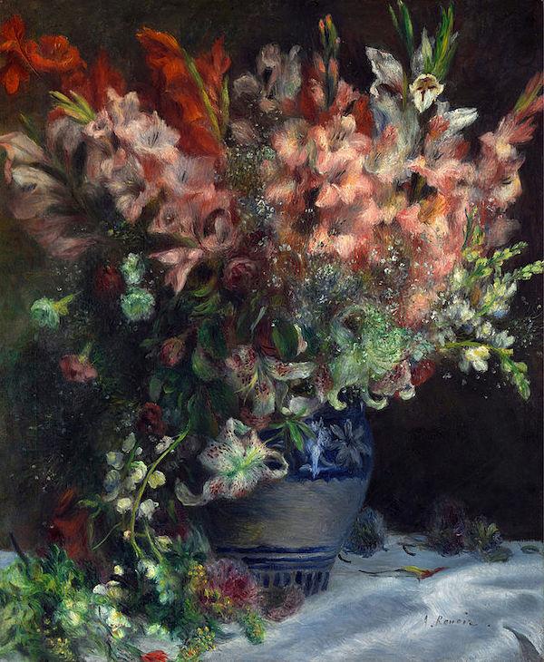 """Auguste Renoir, """"Glaïeuls dans un vase"""" (1841)"""