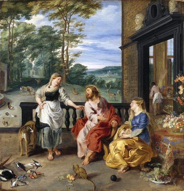 Pierre-Paul Rubens et Jan Brueghel le jeune, Le Christ dans la maison de Marthe et Marie