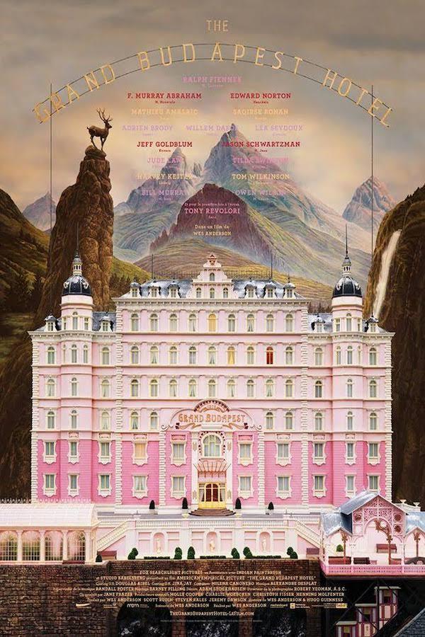 "Affiche du film ""The Grand Budapest Hotel"" de Wess Anderson"