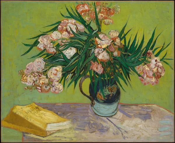 """Vincent van Gogh, """"Vase aux lauriers roses"""" (1888)"""
