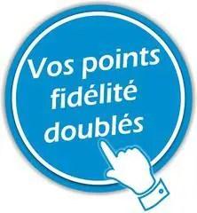 Vos points fidélité doublés le Samedi 15 et le Dimanche 16 Décembre