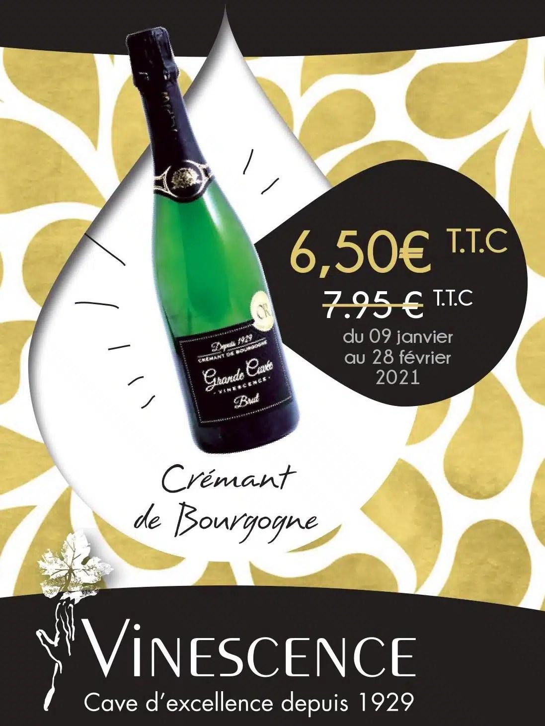 Promotion sur notre Crémant de Bourgogne !