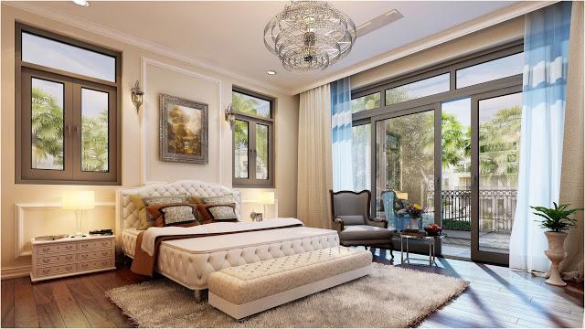 Luxurious Bedroom in Vinhomes rental apartment HCM Golden River
