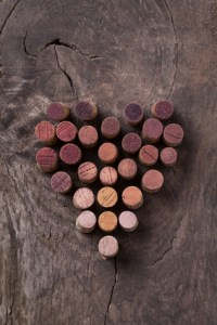 Heart made with wine corks