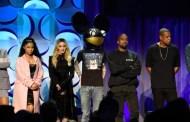 Jay Z, Prince, Nicki Minaj y Usher, en el concierto de Tidal