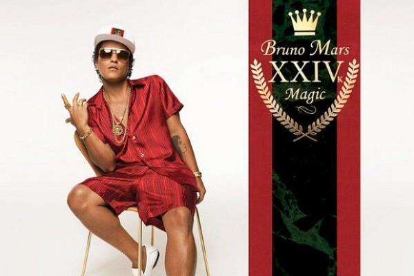 Bruno Mars lleva 24K Magic, a su mejor posición en álbumes en USA, desde septiembre
