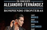 Alejandro Fernández anuncia conciertos este verano en España, dentro de su 'Tour Rompiendo Fronteras'