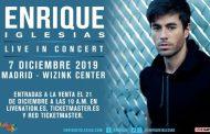 Enrique Iglesias dará un único concierto en España en 2019, el 7 de diciembre en el WiZink Center, en Madrid