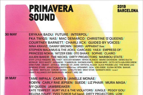 Rosalía, Cardi B, Solange, J Balvin, Tame Impala o Suede, entre otros muchos, en el Primavera Sound