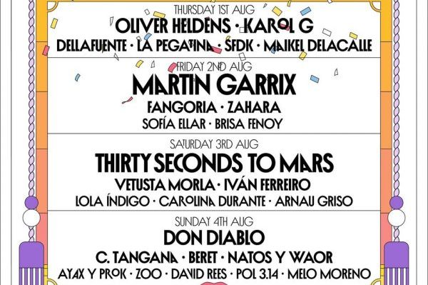 El Arenal Sound confirma a Thirty Seconds To Mars, Lola Indigo, Natos y War y Dellafuente entre otros, para su festival