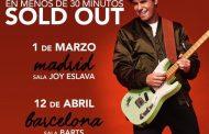 Alfred García agota las entradas para su segunda fecha en Madrid y Barcelona, en apenas media hora