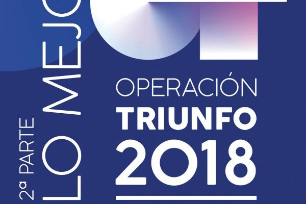 'Operación Triunfo 2018, Lo Mejor de la 2ª Parte' nuevo #1 en álbumes en España