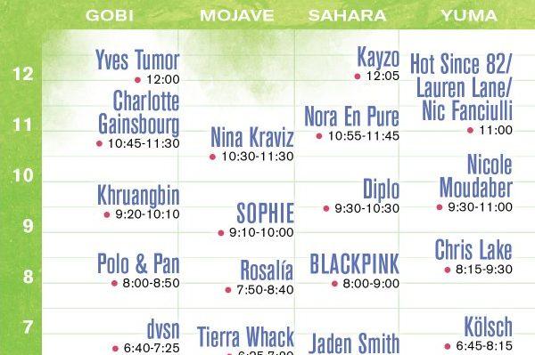 Coachella confirma los horarios del primer fin de semana