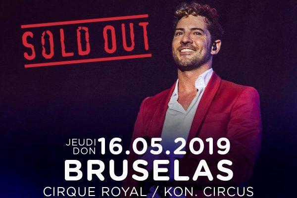 David Bisbal agota también entradas en Bruselas, dentro de su gira