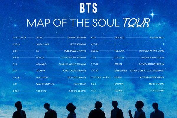 BTS actuarán en Barcelona el 17 y 18 de julio, dentro de su gira 'Map of the Soul Tour'
