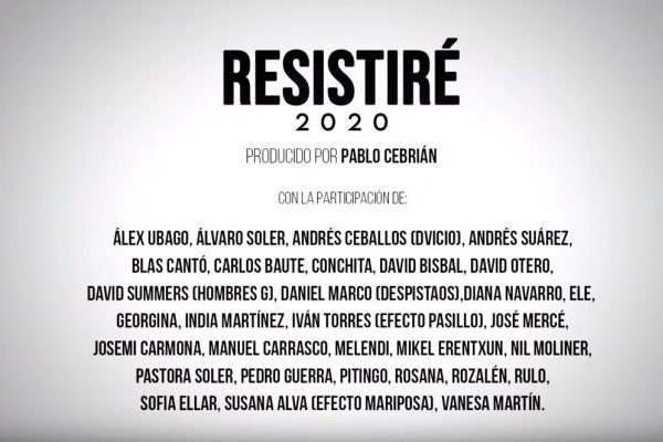 'Resistiré 2020' aguanta una semana más como canción y vídeo #1 en YouTube España, y Anuel Aa recupera el #1 en artistas