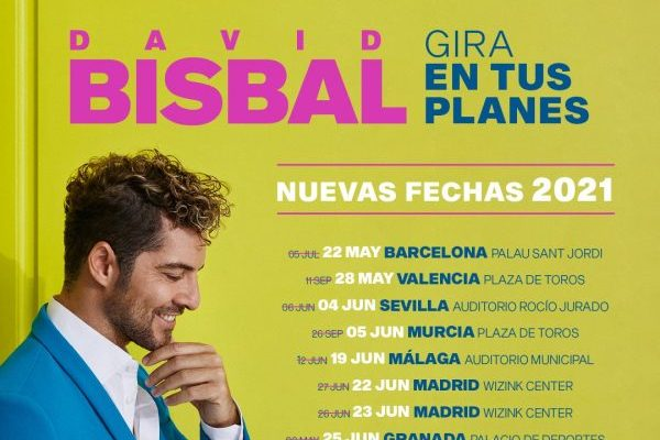 David Bisbal pospone su gira 'En Tus Planes' a 2021. Nuevas fechas ya confirmadas