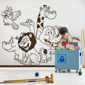 Vinilos Infantiles Animales Zoo