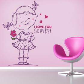 Vinilos Infantiles Frases I Love You So Much