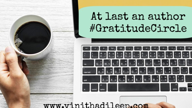 At last an Author of my book | June Gratitude #GratitudeCircle