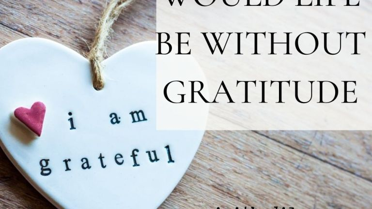 What Would Life Be Without Gratitude