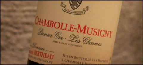 2010 Francois Bertheau, Les Charmes 1'er Cru, Chambolle Musigny