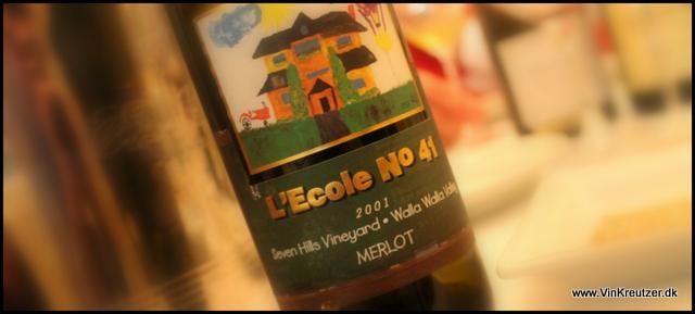 2001 L'Ecole 41, Seven Hills Vineyard, Merlot, Walla Walla Valley, Washington State
