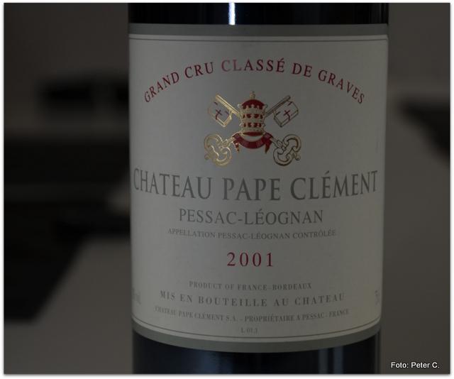 2001 Chateau Pape Clement, rouge, Pessac Leognan