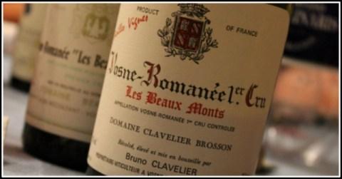 1993 Bruno Clavelier, Les Beaux Monts, 1'er cru, Vosne-Romanée