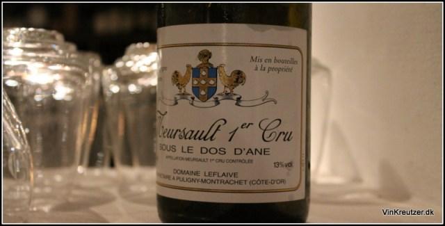 2011 Domaine Leflaive, Sous le Dos d'Ane, Meursault