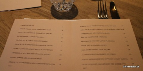 Aftenens menukort - keep it simple