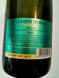 Cesarini Sforza Tridentum brut metodo classico