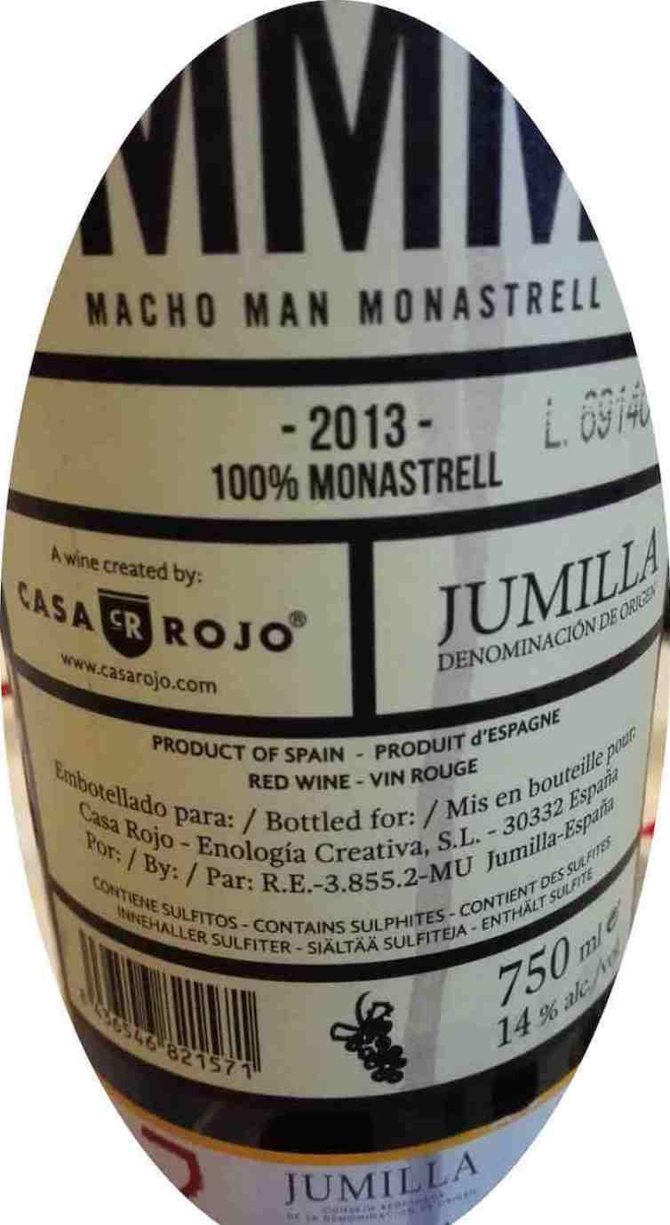 Casa Rojo Macho Man Monastrell 2013