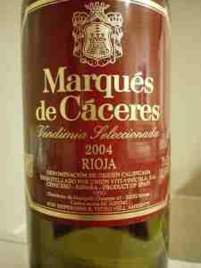 Marquès de Càceres Rioja 2004