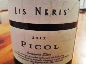 Lis Neris Picol 2012 Sauvignon Blanc