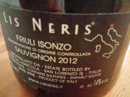 Lis Neris Picol etichetta