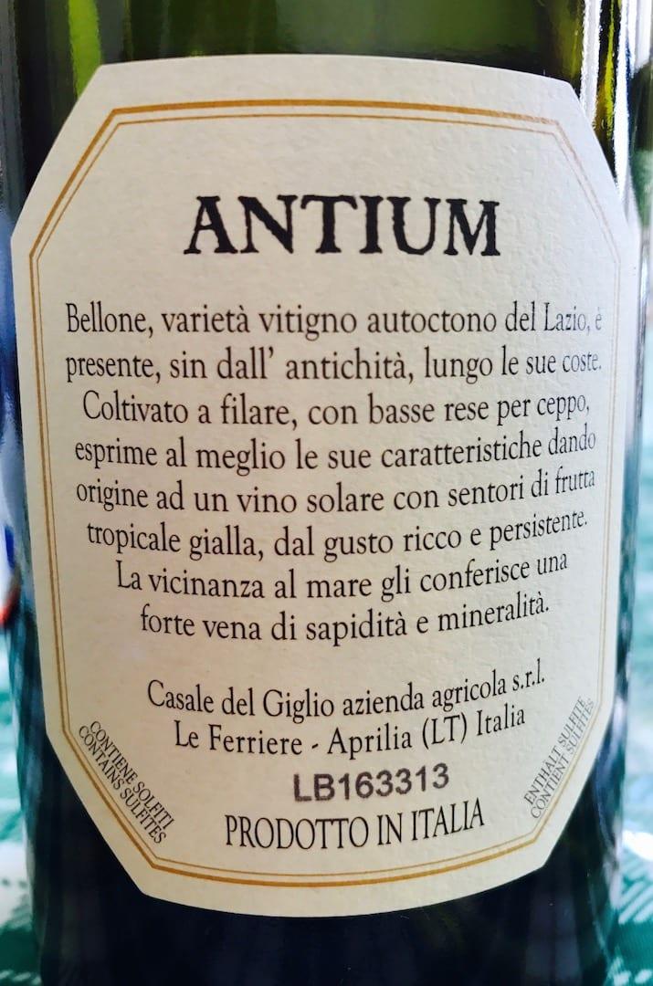 Casale del Giglio Antium Bellone 2015