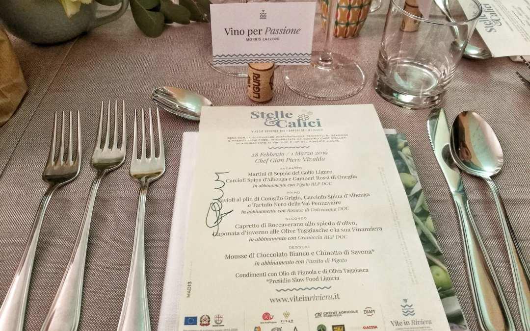 Menù della cena Vite in Riviera con lo chef Vivalda