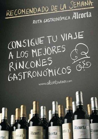 Cartel Viña Alcorta promoción cava Baja de Madrid