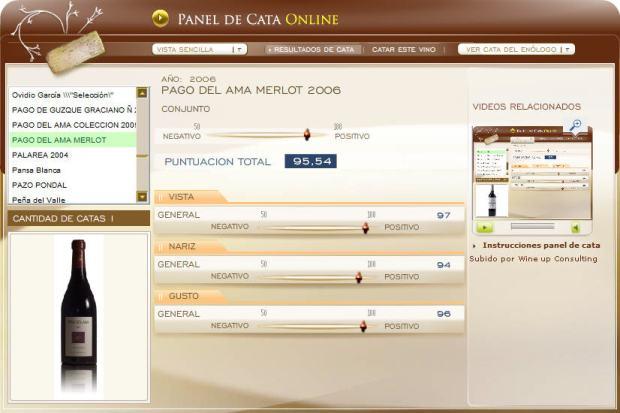 Imagen de la cata de PAGO DEL AMA en el panel de cata Online de www.ecatas.com
