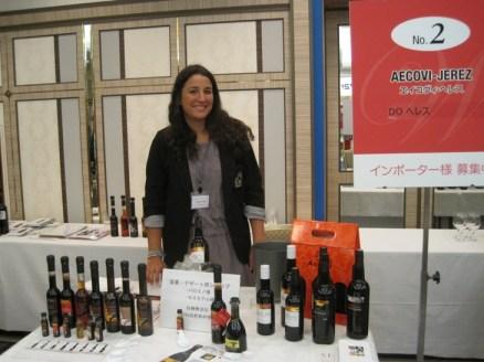 Cristina Bilbao, responsable de exportación de AECOVI, durante la feria.