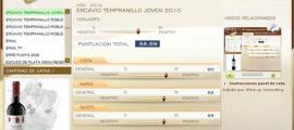 ERCAVIO TEMPRANILLO JOVEN 2010 - 88.69 PUNTOS EN WWW.ECATAS.COM POR JOAQUIN PARRA WINE UP