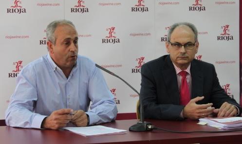 Luis Alberto Lecea, presidente del Consejo Regulador, y José Luis Lapuente, director general, en la rueda de prensa.