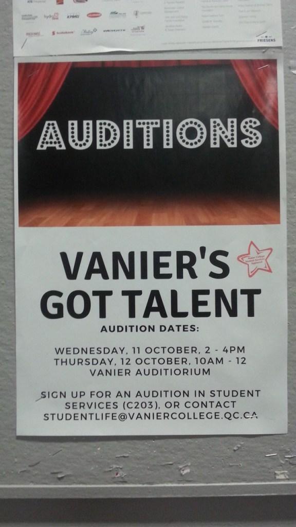 Vanier's Got Talent Auditions